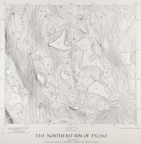 TURNER, RALPH. Northeast Rim of Tycho, FILL IN, printed
