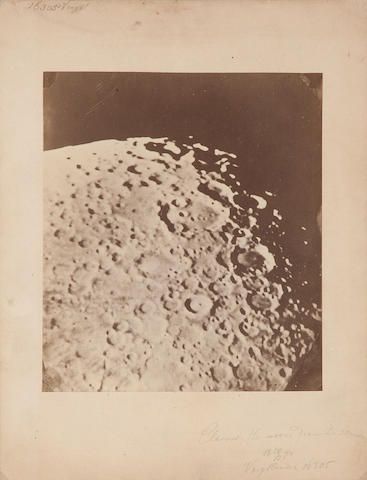 "DRAPER, HENRY. 1837-1882, attributed. ""Clavius, the moons diameter 30 inches,"" probably from Hastings-on-Hudson, NY, February 28, 1874,"