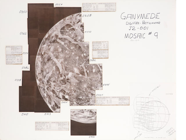 VOYAGER I Hand mosaic of Ganymede, mosaic #9, reference 260-613,