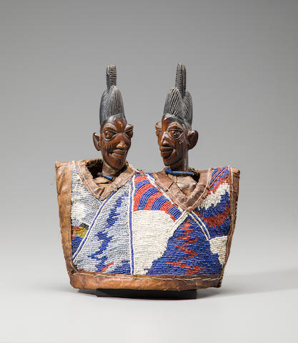 Yoruba Twin Female Figures by the 'Master of the Enigmatic Smile', Nigeria