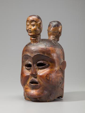 Ejagham Helmet Mask, Nigeria