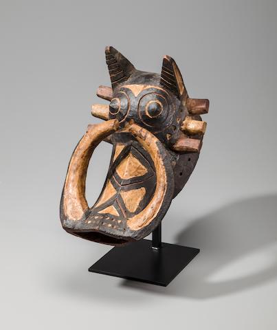 Nunuma or Winiama Warthog Mask, Burkina Faso