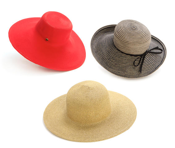 A group of three Eric Javits hats
