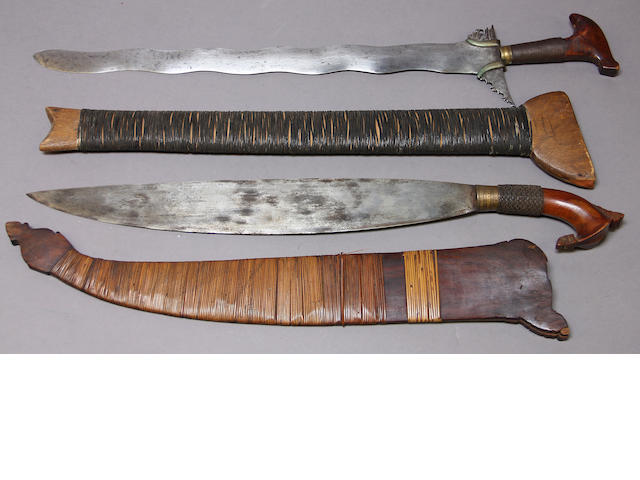 A lot of two Moro swords
