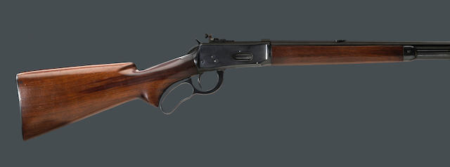 A .219 Zipper Winchester Model 64 lever action rifle
