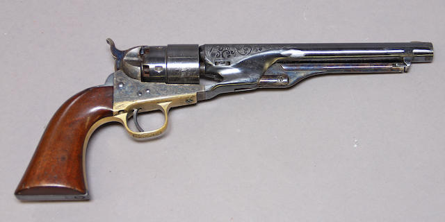 A custom engraved Colt Model 1860 Army percussion revolver
