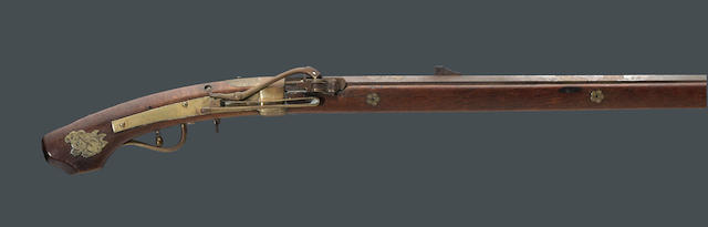 A Japanese matchlock rifle