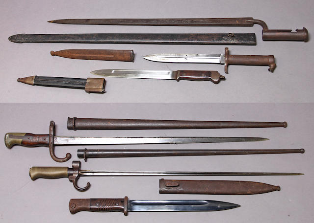 A lot of six bayonets