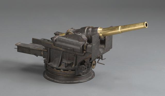 A large firing model of a breechloading coastal gun