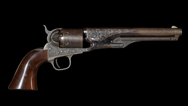 A factory engraved Colt Model 1861 Navy percussion revolver