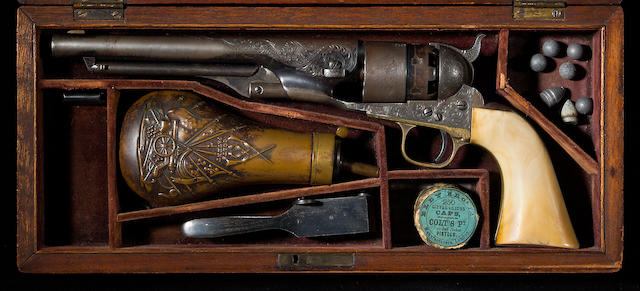 A cased and factory engraved Colt Model 1860 Army percussion revolver