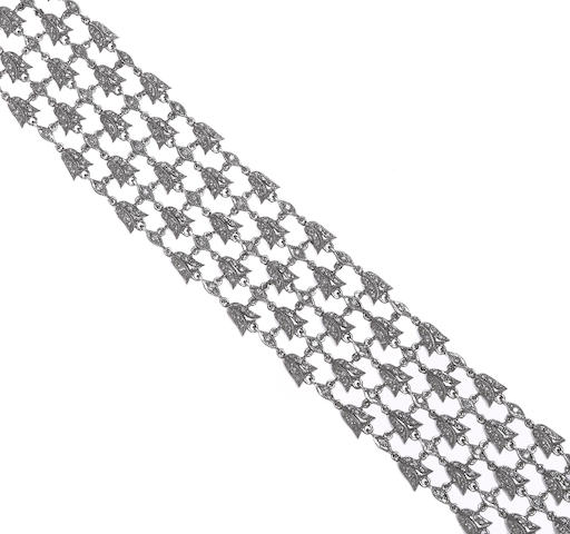 a diamond tulip bracelet, 18k, D=3.10ct