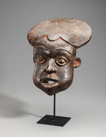 Kom Helmet Mask, Tikar Group, Western Grasslands, Cameroon