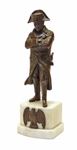 A patinated bronze figure of Napoleon late 19th/early 20th century