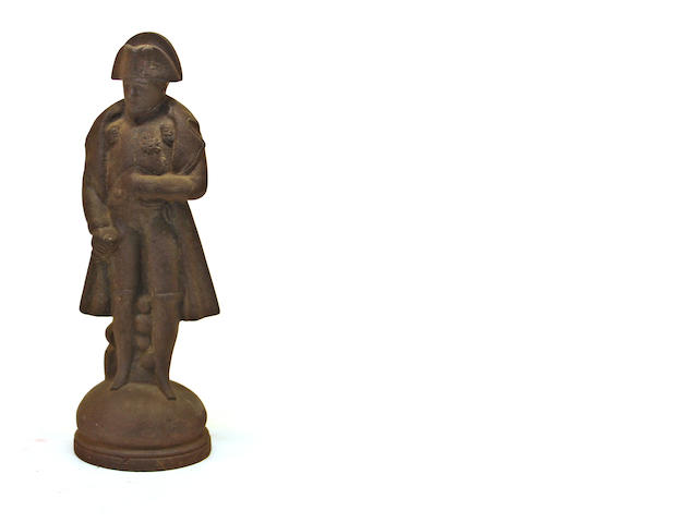 A cast iron figural doorstop: Napoleon I late 19th/early 20th century
