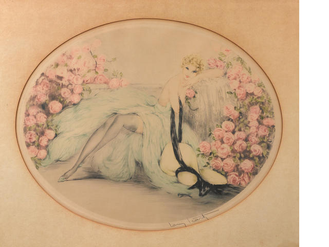 Louis Icart (French, 1888-1950); La Belle Rose;