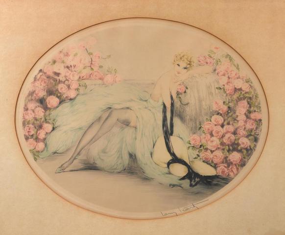 Louis Icart (French, 1888-1950); La Belle Rose;