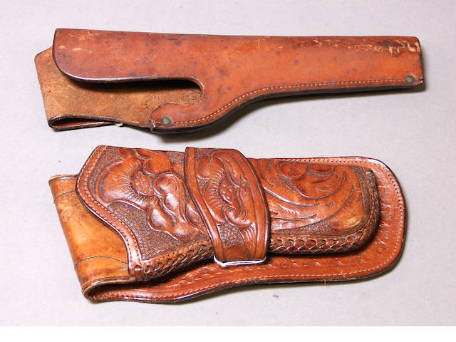 A lot of two holsters by H.H. Heiser of Denver, Colorado