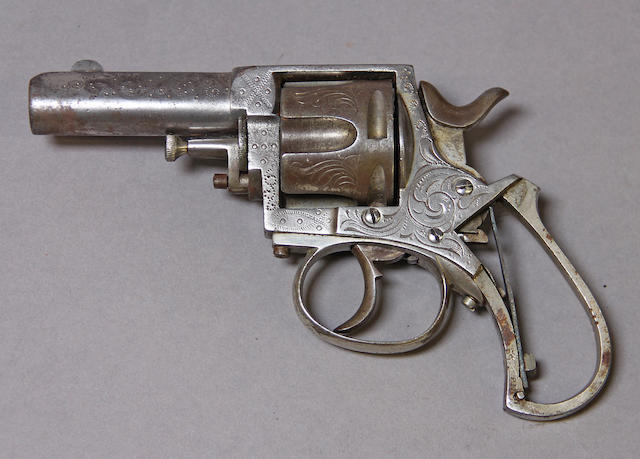 A Belgian 'British Bulldog' double action revolver