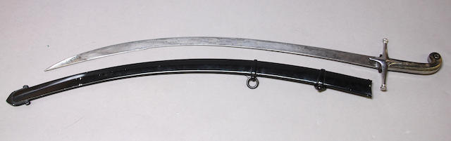 An East India Company mameluke-hilted saber for the Bombay Light Cavalry