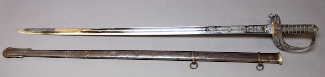 An Edward VII officer's sword for the 17th Lancers by Wilkinson