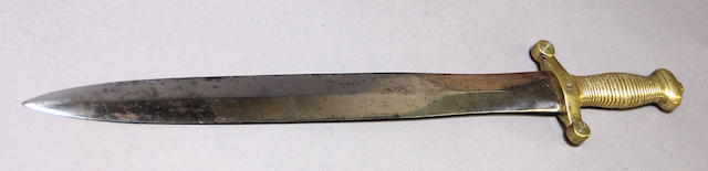 A French Model 1831 foot artillery sword