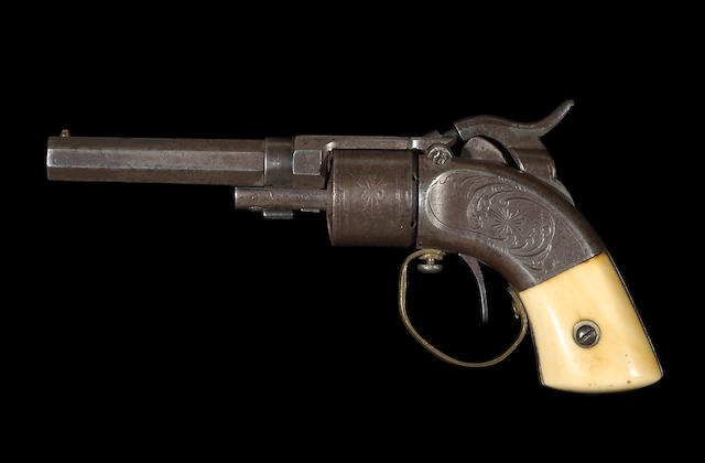 A Massachusetts Arms Company Maynard primed percussion pocket revolver