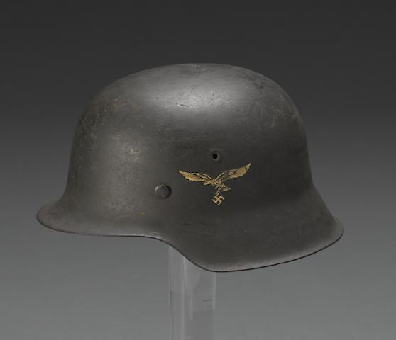 A German M42 Luftwaffe helmet