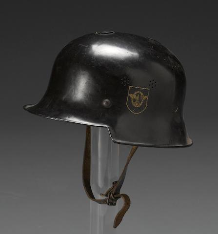 A German M34 Civic/Police helmet