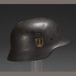 A German M40 single decal SS helmet
