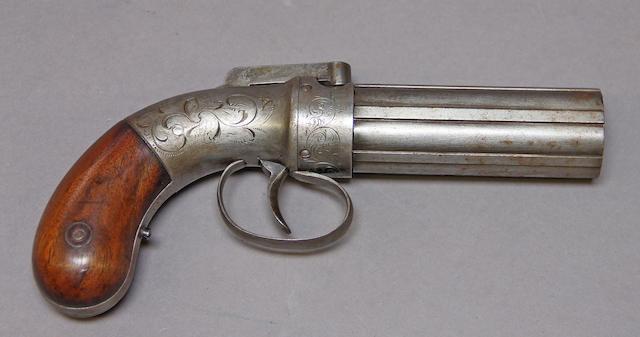 An Allen & Thurber percussion pepperbox revolver
