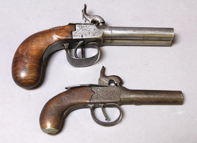 A lot of two percussion pocket pistols