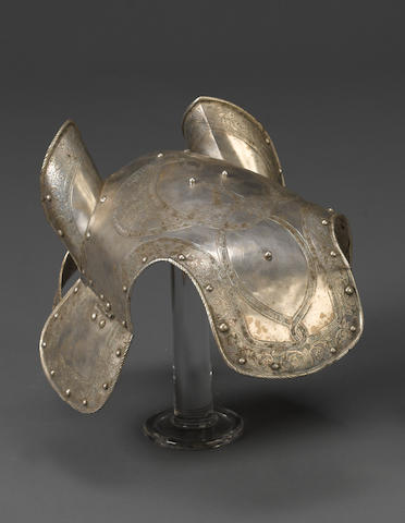 An electroplate chanfron in 16th century style