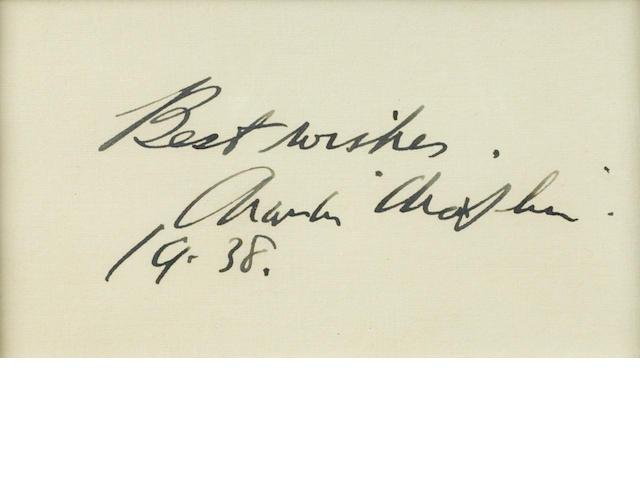 A Charlie Chaplin signature