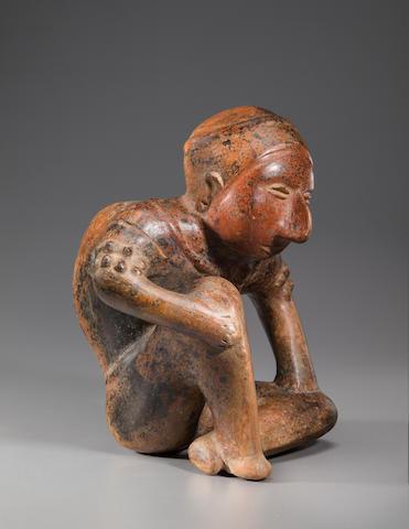 Fine Colima Hunchback Figure,<BR />Protoclassic, ca. 100 B.C. - A.D. 250