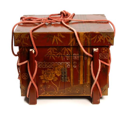 A Japanese lacquer storage box, Karabitsu