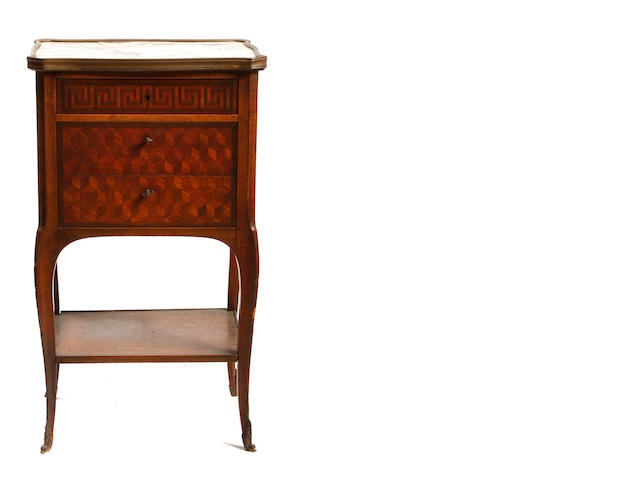 A Louis XV/XVI Transitional style petite commode