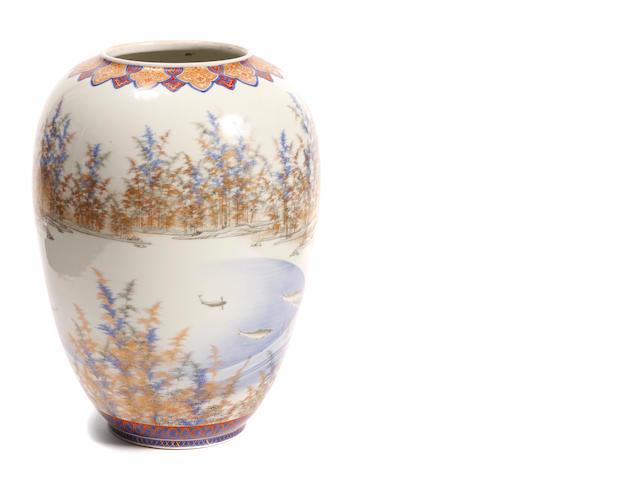 A Japanese style vase