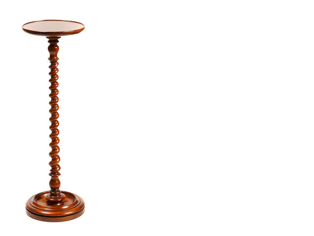 A William and Mary style walnut candle stand