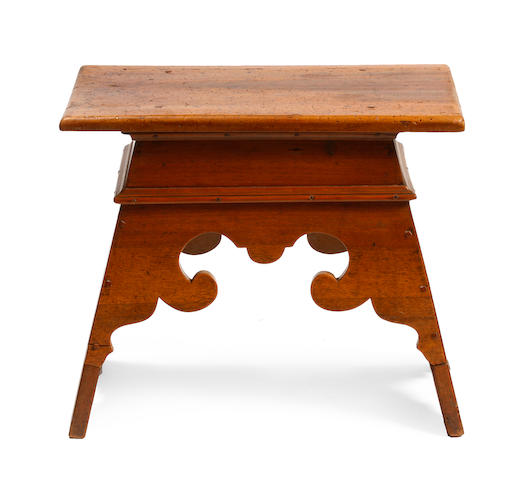 A Continental Baroque walnut stool