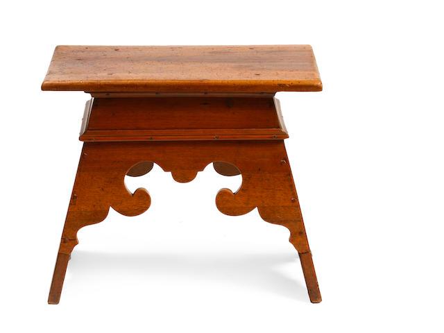A Continental Baroque walnut stool