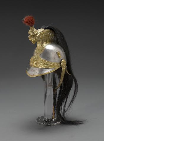 A French Model 1874 cuirassier's helmet