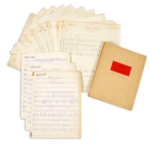 A script and musical score from The Great John L.