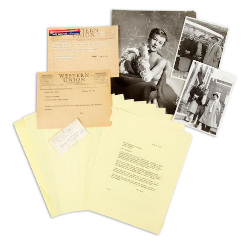 A Bing Crosby group of correspondence, 1954-1956