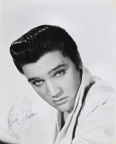 An Elvis Presley signed photograph