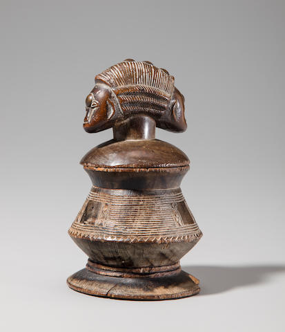 Baule Butter Box with Janus Faced Lid, Ivory Coast