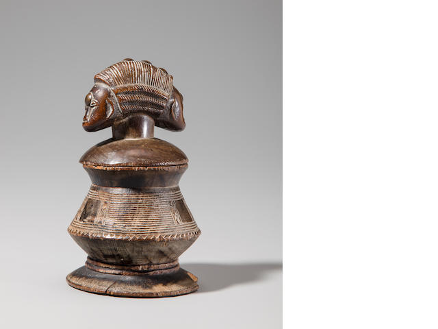 Baule Butter Box with Janus-Faced Lid, Ivory Coast