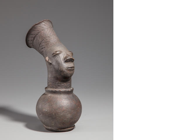 Mangbetu Figural Vessel, Democratic Republic of the Congo