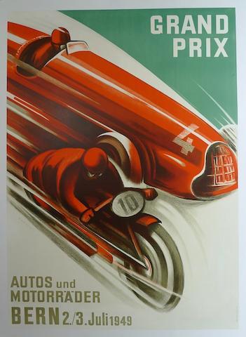 A Grand Prix Bern poster, 1949,