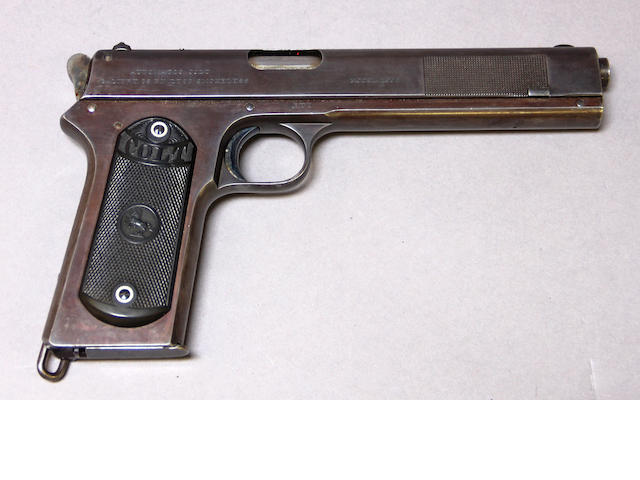 A scarce U.S. Colt Model 1902 Military semi-automatic pistol
